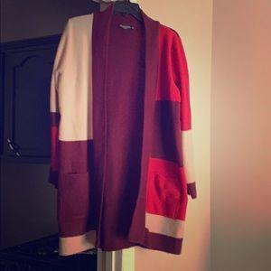 Sweaters - NWOT Color Block Cardigan